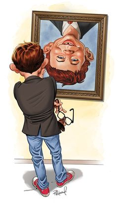 MAD Exhibit at Billy Ireland Cartoon Library ! Cartoon Art, Cartoon Characters, Alfred E Neuman, Comedy Tragedy Masks, American Humor, Mad Tv, Mad Magazine, Culture Pop, Mad World