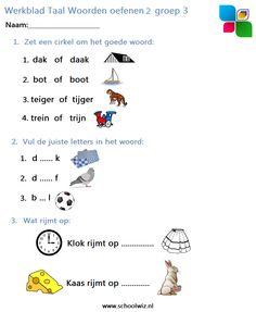 Schoolwiz heeft veel leuke werkbladen voor uw kind in groep 3.