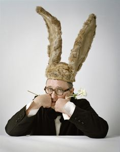 Alber Elbaz with rabbit ears, photographed by Tim Walker in Paris 2009 (appeared in the New Yorker)