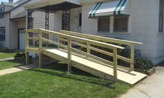 Wheel Chair Ramp Plans - Fresh Wheel Chair Ramp Plans , Building A Wheelchair Ramp Over Stairs Handicap Accessible Home, Handicap Ramps, Disabled Ramps, Wooden Ramp, Ramp Design, Access Ramp, Home Porch, Backyard, Patio
