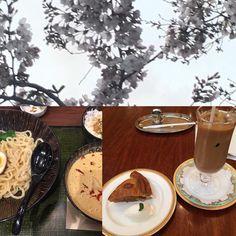 #桜ノ季節  #つけ麺 #アップルパイ #桜  んー春ですね 食べ物は関係ないか by matchy0907