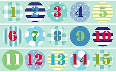 numbers Diy Birthday, Birthday Cards, Love Is An Action, Alphabet Blocks, Shopper Bag, Bunting, Advent Calendar, Printables, Bows