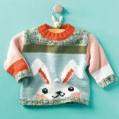 Gratis breipatroon Konijnen trui! De kleuren wat aanpassen.