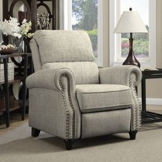 ProLounger Barley Tan Linen Push Back Recliner Chair - 17668399 - Overstock.com Shopping - Big Discounts on ANGELOHOME Recliners