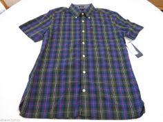 Men's Tommy Hilfiger short sleeve shirt button up 7845235 Maple 303 XS slim fit #TommyHilfiger #ButtonFront