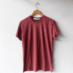 "Hidden Project ""Plain Maroon"" basic t-shirt. New collection on #rbck2015 available now in-store and online.  rbck, Jatinangor 97A +6287722170691   IDR 115.000,-"