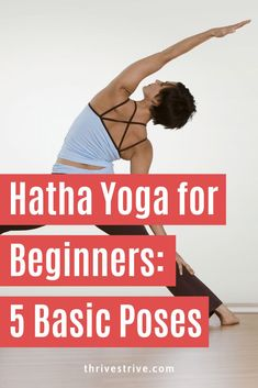 Hatha Yoga for Beginners: 5 Basic Poses Hatha yoga describes a kind of yoga where asanas are practiced. This post on Hatha yoga for beginners is a great introduction to the practice of yoga. Vinyasa Yoga, Hatha Yoga Poses, Ashtanga Yoga, Yoga Sequences, Iyengar Yoga, Hatha Yoga For Beginners, Workout For Beginners, Yoga Logo, Pilates Workout