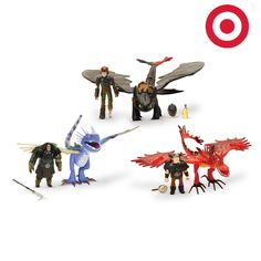 Re-live the ultimate #HTTYD battle scene with this amazing heroes team set.  Available exclusively at Target.
