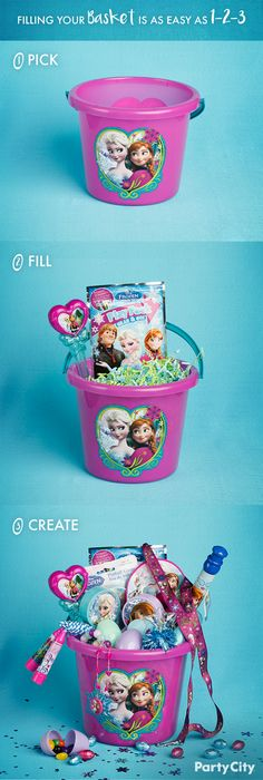 Hop to it and fill those Easter baskets! Create a character-themed Easter basket filled to the brim with matching stuffers. Pick a theme like Frozen, Minnie Mouse, Paw Patrol, Ninja Turtles and more. Select an Easter pail, fill it with matching eggs, favors, candies and Easter grass.