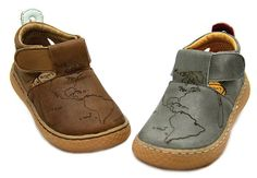 Livie & Luca's owner and designer Mitzi Rivas was inspired by a recent trip to South Africa, and the result is her favorite little boys' shoe, for spring-summer 2014: Atlas, in gray or black leather, which is imprinted with the map of South Africa. www.livieandluca.com