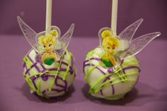 Another Tinker Bell ring used as decoration on a cake pop