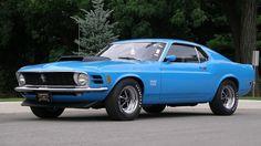 """1970 """"Boss 429"""" Mustang in """"Grabber Blue."""""""