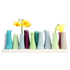 Chive: P2 12 Tube Vase  Love some pastels with flowers