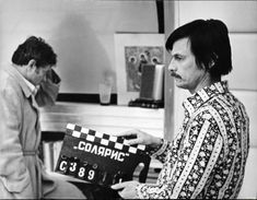 Donatas Banionis and Director Andrei Tarkovsky prepare for a take on the set of Solaris. Sci Fi Movies, Movie Tv, Desert Aesthetic, Film World, Famous Couples, Scene Photo, Film Director, Short Film, Filmmaking