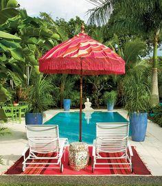 pool and umbrella
