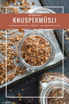 Make crunchy muesli without sugar yourself Simple recipe - Food - Gesunde Snacks Toddler Smoothie Recipes, Easy Healthy Smoothie Recipes, Smoothie Recipes With Yogurt, Vegan Breakfast Recipes, Brunch Recipes, Oatmeal Bars Healthy, Food To Make, Bowls, Easy Meals