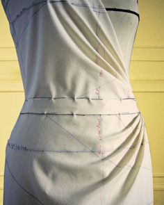 How to Use a Dress Form to Design Garments: Create a wrapped blouse front