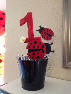 ladybug 1st birthday decorations - this idea but with pirate stuff