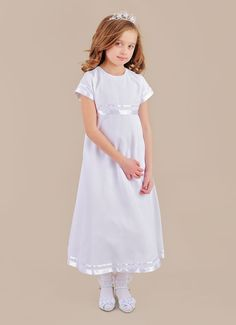 Miss Danielle | White LDS Baptism dress for girls $65.99 at www.onesmallchild.com