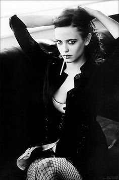 pinterest.com/fra411 #smoking Eva Green so beautiful
