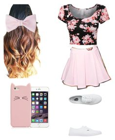 """Bethany Mota Style Reflection 2015"" by littlemissmia03 ❤ liked on Polyvore featuring Cemi Ceri, Vans, American Apparel and Kate Spade"
