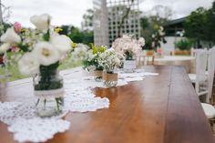 Mesa dos noivos e de seus pais