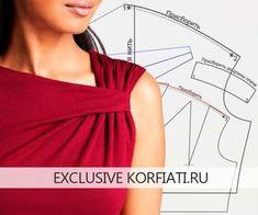 Если вы любите шить изделия их трикотажа, то вам непременно понравится модель, которую мы смоделируем в этом уроке. При помощи оригинальной драпировки на плече создаются мягкие складки и асимметричный вырез, который создает магический образ, по-настоящему женственный и роскошный.