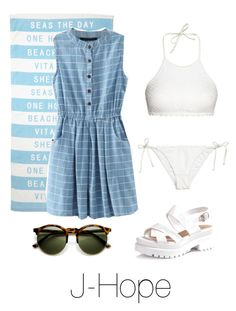 """Beach Day with J-Hope"" by btsoutfits ❤ liked on Polyvore featuring Glamorous"