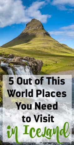 5 Places to Visit in Iceland Places To Travel, Travel Destinations, Places To Visit, Travel Europe, Iceland Roads, Iceland Adventures, Iceland Travel Tips, Future Travel, Travel Guides