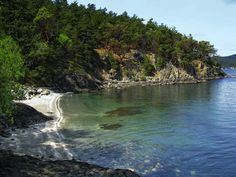 """A Northwest Beach"" - Small beach within Lime Kiln Point State Park. San Juan Island, Washington."