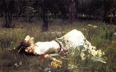 Ophelia - Waterhouse John William Date: 1889 Style: Romanticism Genre: literary painting