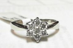 0.60ct Diamond Engagement ring 14k white gold LOWEST  PRICE