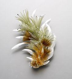 Eunju Park Brooch: Mature 2, 2012 925 silver, nylon (fishing thread) 80 x 120 x 28 mm