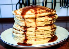 Pancakes made with buttermilk are probably my favorite kind of pancakes. This recipe yields thick, flavorful pancakes every time. They're perfect for any