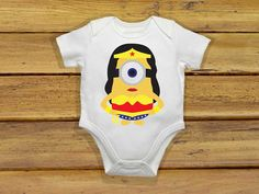 Baby bodysuit Newest wonder minion women One by theclansstore, $14.00