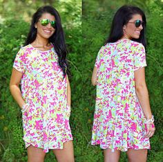 Come try on the 'Sunshine Bliss' dress today in Commerce or shop with us now online! #newarrivals #onlinetoo #dresses #georgiaboutique #commercega #onlineboutique #comfydress #summer16 #shopPD