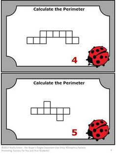 Math Perimeter Task Cards Quiz and More Common Core - This 30 page packet focuses on the skill of calculating perimeter. You will receive 40 task cards, 2 anchor cards, worksheet and quiz! CCSS.Math.Content.4.MD.A.3