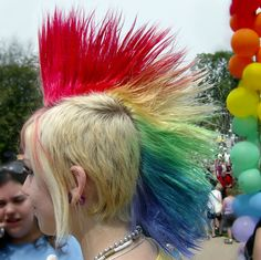 Rainbow mohawk | rainbow-mohawk - My New Hair