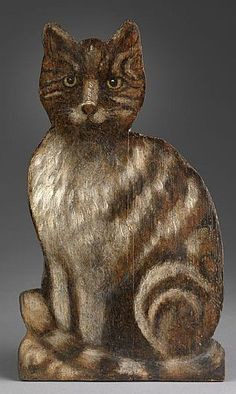 Dummy Board of a Cat - c.1880.