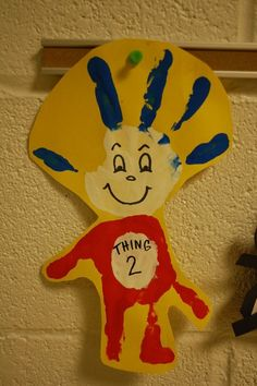 Thing 1 and Thing 2 crafts