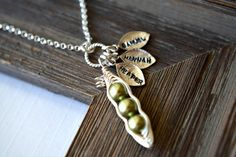 Personalized Necklace  2 3 4 5 Peas in a Pod by BlueDoveStudio