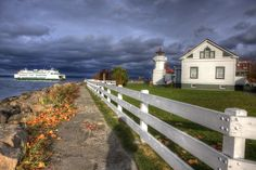 Mukilteo Lighthouse and Whidbey Island Ferry by Kevin Reilly, via 500px.
