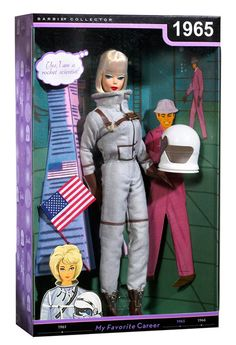 VINTAGE CAREER BARBIE DOLL - ASTRONAUT. Wow, this is awesome.  Making me rethink my feelings about Mattel :)