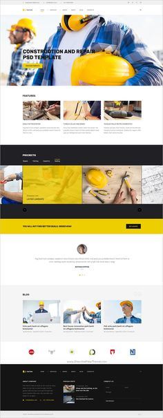 Tecton is an innovative and multipurpose #PSD template for #Construction & Building #companies websites download now➩ https://themeforest.net/item/tekton-construction-and-repair-psd-template/19136407?ref=Datasata