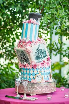 Alice in Wonderland cake by Cake-a-Licious Salt Lake City