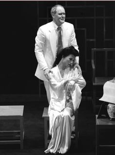 """John Lithgow and B. Wong in David Henry Hwang's """"M. Musical Theatre Broadway, Theatre Plays, B D Wong, John Lithgow, Golden Age, Behind The Scenes, Jazz, Musicals, Acting"""