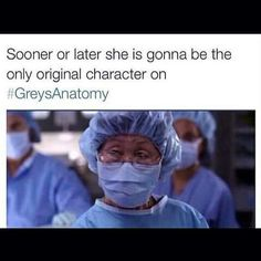 only original character on greys anatomy. asian scrub nurse