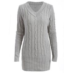 Vintage V-Neck Long Sleeve Solid Color Women's Sweater ($23) ❤ liked on Polyvore featuring tops, sweaters, long sleeve v neck top, vintage v neck sweater, v neck sweater, vintage sweaters and v-neck tops