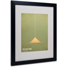 Trademark Fine Art Peter Pan by Christian Jackson, Black Frame, Size: 11 x 14
