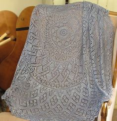 New pattern now on Ravelry: Diamond Rings Pi Shawl pattern by Donna Druchunas